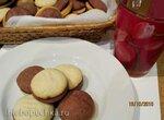 Печенье песочное Шахматка ванильно-шоколадное с шоколадной начинкой