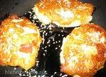 Картофельные оладьи фаршированные