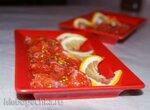 Слабосоленый лосось в сладко-кислом соусе