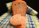 Хлеб Кунжутный из муки 1 сорта и ржаной цельнозерновой в хлебопечке Бинатон-2169