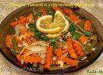 Салат из  стручковой фасоли и тыквы (можно с консервированной рыбкой)