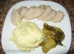 Курино-свиные колбаски, запеченные в фольге