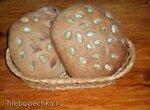 Хлеб Деревенский на долгой опаре (с гречневой  мукой)