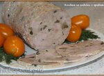 Колбаса из индейки с грибами (ветчинница Tescoma)