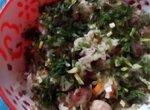 Салат из фасоли с квашенной капустой