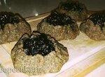 Калитки ржаные с грибами лисичками и ягодами (черникой, смородиной) в духовке