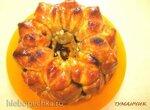 Обезьяний хлеб с соусом Ириска, орехами и сухофруктами