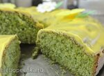 Изумрудный турецкий кекс со шпинатом