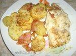 Треска с картофелем и беконом в аэрофритюрнице