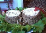 Паштет из печени с маринованными опятами Грибочки на пенечке