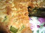 Пирог с ревенём и орехами