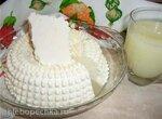 Домашний сыр натуральный мягкий на пепсиновой закваске