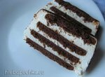 Торт без выпечки Полосатый