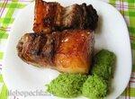 Свинина, маринованная в пасте из чесночных стрелок,  запечённая в  мультиварке Stadler Form