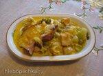 Мясо и овощи, тушеные в сыре (мультиварка Redmond RMC-02)