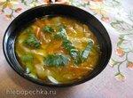 Зама, молдавский куриный суп с домашней лапшой (газовая панель, керамическая кастрюля)
