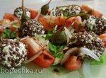 Салат летний с творожными шариками