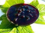 Варенье из черной смородины Нежная ягодка в легком желе (измерение составляющих стаканом)