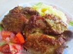 Мясо в яичной заливке