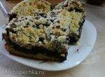 Дрожжевой пирог с черникой и штрейзелем