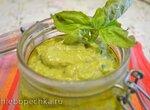 Паста закусочная из авокадо с замороженными огурцами и зеленым луком
