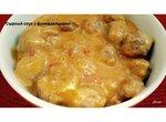 Сырный соус с мясными фрикадельками