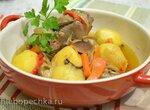 Воскресный обед в чугунке (горшочке): перепела фаршированные куриной печенью с изюмом, томленые в духовке