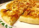 Пицца диетическая с куриным филе (пиццамейкер Clatronic PM3622)