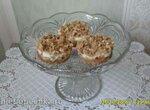 Пирожные овсяные с яблоком и йогуртовым кремом