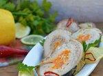Рулет из скумбрии с гречкой и рисом
