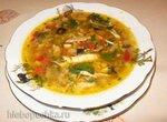 Куриный суп с баклажаном, сладким перцем и рисом (мультиварка Redmond RMC-02, газовая панель)