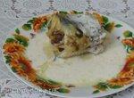 Рыба в собственном соку под горчично-йогуртовой заливкой