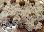Бурый рис с зелёными оливками (мультиварка Toshiba RS-18NMFR)