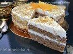 Гречневый торт с творожным кремом