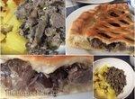 Куриные желудочки с грибами и сыром - два блюда