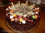 Торт Шоколад, кофе, абрикос
