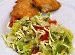 Легкий салат с сыром чечил