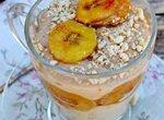 Тофу с бананами и арахисовой пастой (постный десерт)