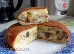 Заливной пирог с картошкой и грибами в мультиварке Philips HD3060/03