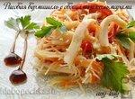 Рисовая вермишель с овощами и кальмарами (постная)
