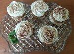 Капкейки Белые розы (вкус Тирамису)