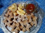 Звёздочки цельнозерновые с яблоками (прибор для выпечки Tortilla Chef 118000 Princess)
