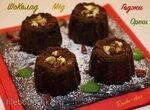 Шоколадно-ореховый десерт с медом и  ягодами годжи