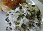Салат из белой редьки и морской капусты