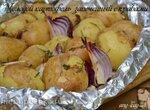 Молодой картофель, запеченный с травами (постный)