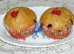Маффины цельнозерновые с ягодами