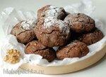 Гречневое печенье с шоколадом и орехами