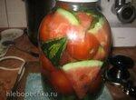 Арбуз маринованный с помидорами