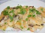 Запеканка из сельди с луком и картошкой