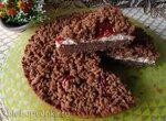 Ржаной тёртый пирог с творожным сыром и вялеными помидорами